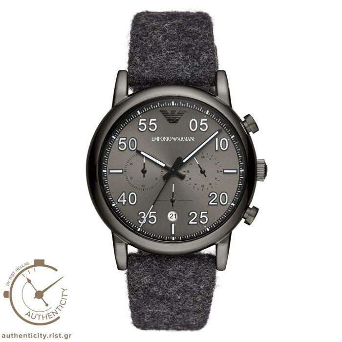 SKU-37536 / EMPORIO ARMANI Chronograph Grey Fabric Strap