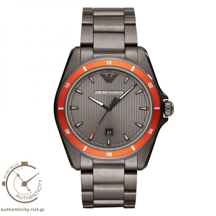 SKU-37519 / EMPORIO ARMANI Sigma Grey Stainless Steel Bracelet