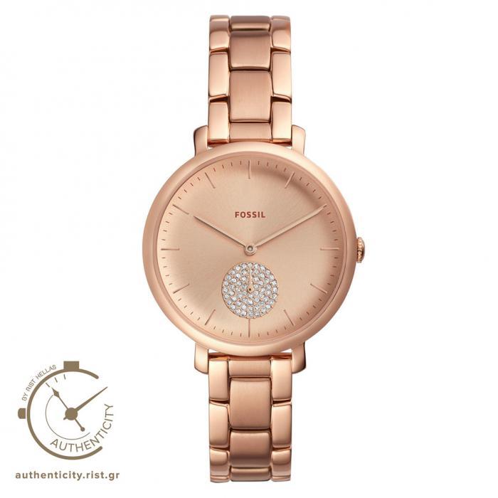 SKU-37652 / FOSSIL Jacqueline Crystals Rose Gold Stainless Steel Bracelet