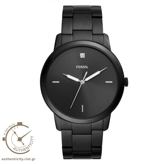 SKU-37642 / FOSSIL The Minimalist Crystals Black Stainless Steel Bracelet