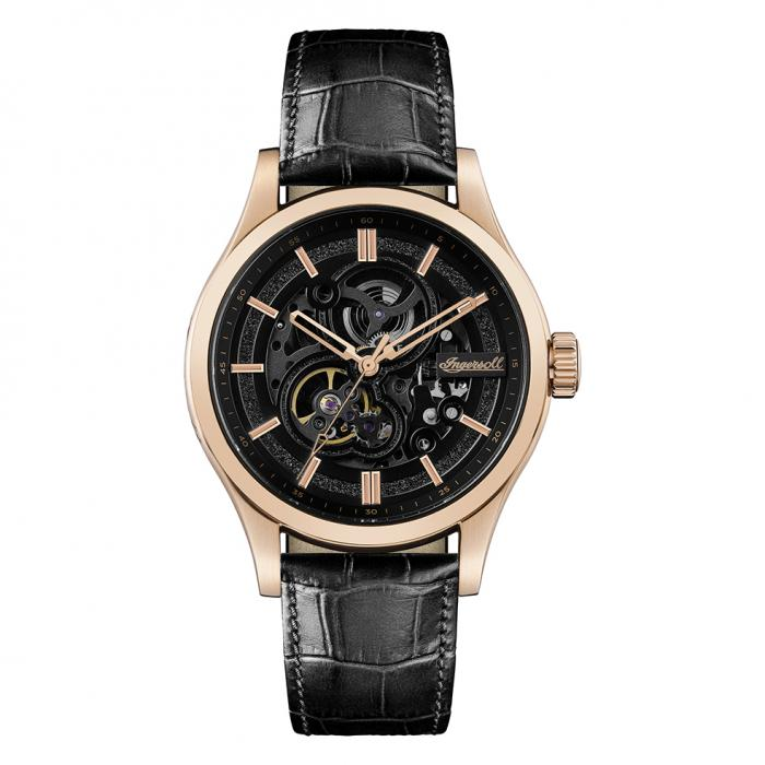 SKU-37065 / INGERSOLL Armstrong Automatic Black Leather Strap