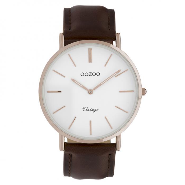 SKU-37089 / OOZOO Vintage Brown Leather Strap