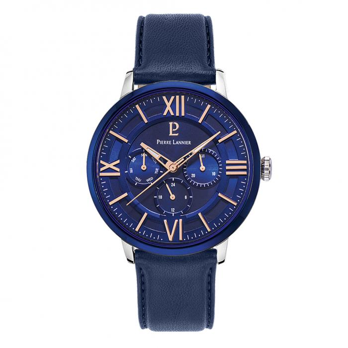 SKU-37861 / PIERRE LANNIER Blue Leather Strap