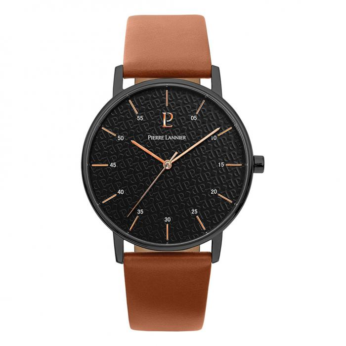 SKU-37957 / PIERRE LANNIER Cityline Brown Leather Strap