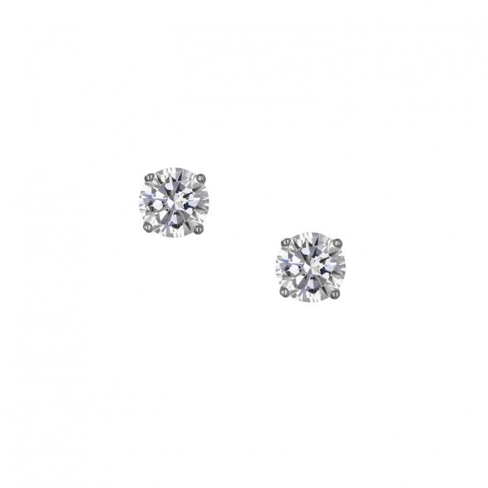 SKU-37041 / Σκουλαρίκια Ασήμι 925° με Ζιργκόν