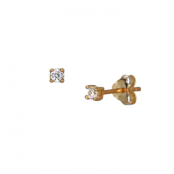 SKU-37050 / Σκουλαρίκια Ασήμι 925° με Ζιργκόν