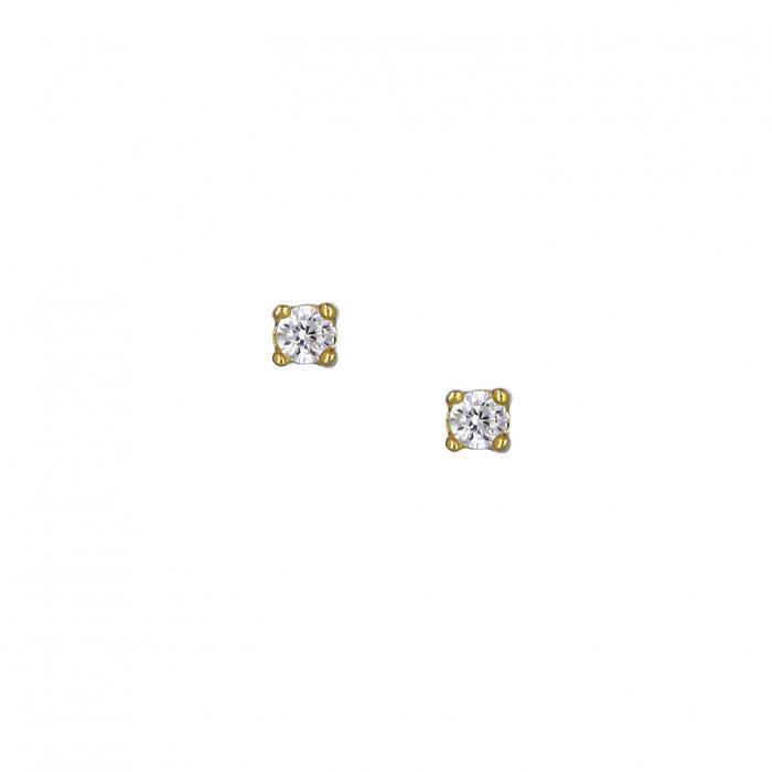 SKU-37052 / Σκουλαρίκια Ασήμι 925° με Ζιργκόν