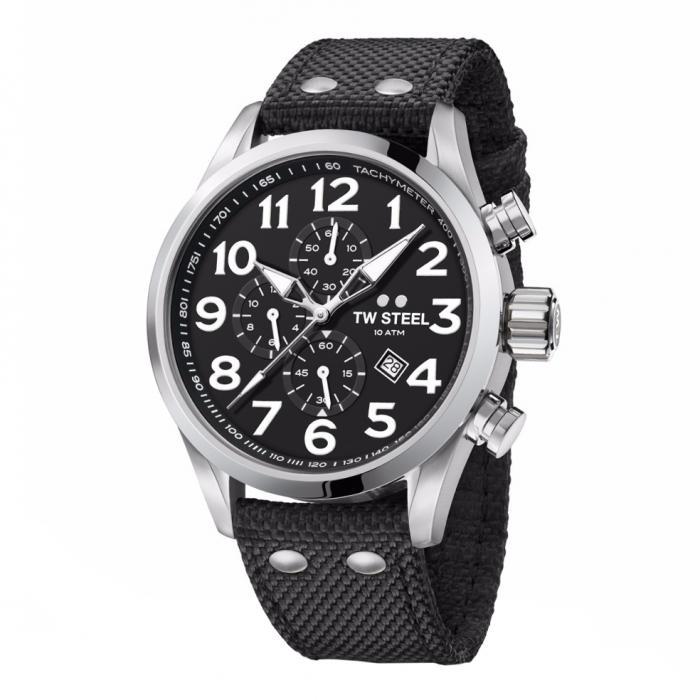 SKU-37701 / TW STEEL Volante Chronograph Black Fabric Strap