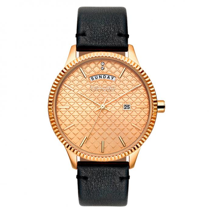 SKU-38968 / BREEZE Jackie Wow Crystals Black Leather Strap