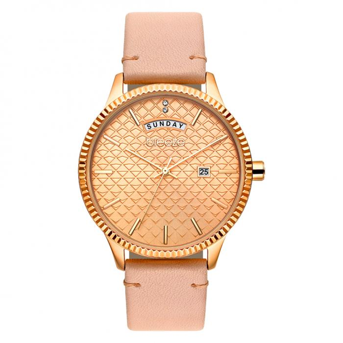 SKU-38971 / BREEZE Jackie Wow Crystals Pink Leather Strap