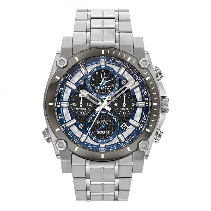 SKU-38481 / BULOVA Precisionist Champlain Chronograph Stainless Steel Bracelet