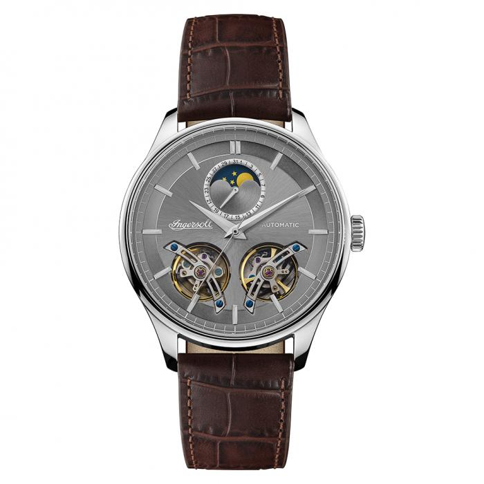 SKU-38822 / INGERSOLL Chord Automatic Brown Leather Strap