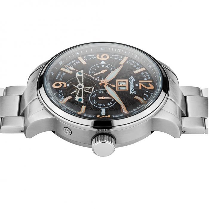 SKU-38820 / INGERSOLL Regent Automatic Silver Stainless Steel Bracelet