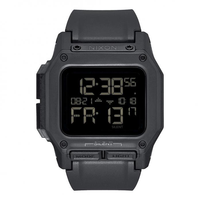 SKU-38846 / NIXON Regulus Dual Time Chronograph Black Silicone Strap