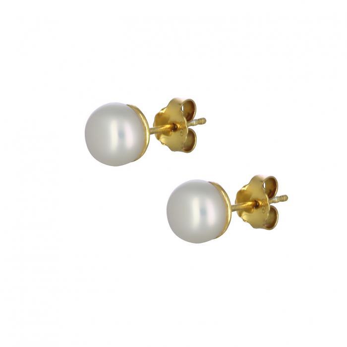 SKU-38447 / Σκουλαρίκια Ασήμι 925° με Μαργαριτάρια