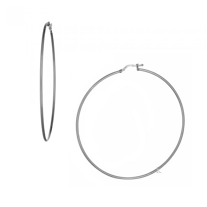 SKU-38224 / Σκουλαρίκια Κρίκοι Ασήμι 925°
