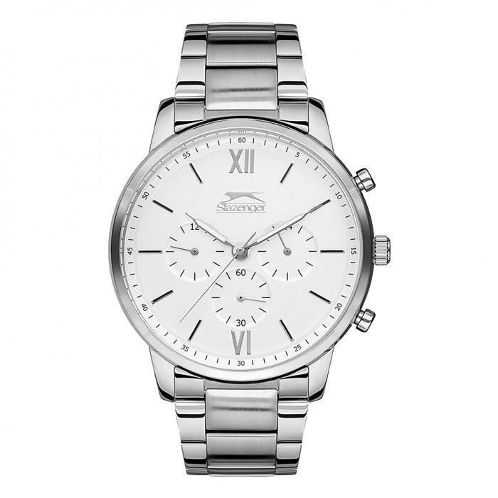 SKU-38931 / SLAZENGER Chronograph Silver Stainless Steel Bracelet