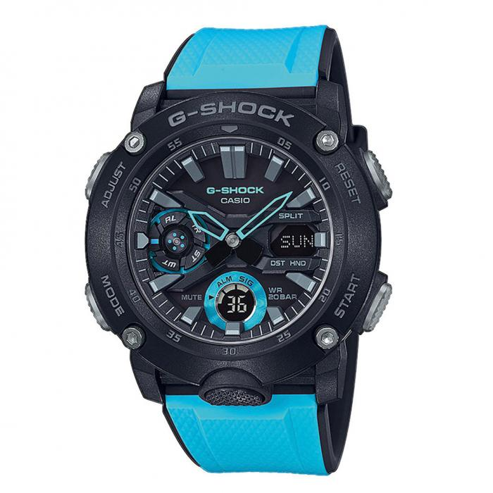 SKU-39945 / CASIO G-Shock Chronograph Light Blue Rubber Strap