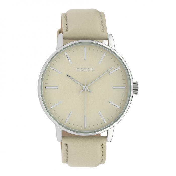 SKU-39569 / OOZOO Timepieces Beige Leather Strap
