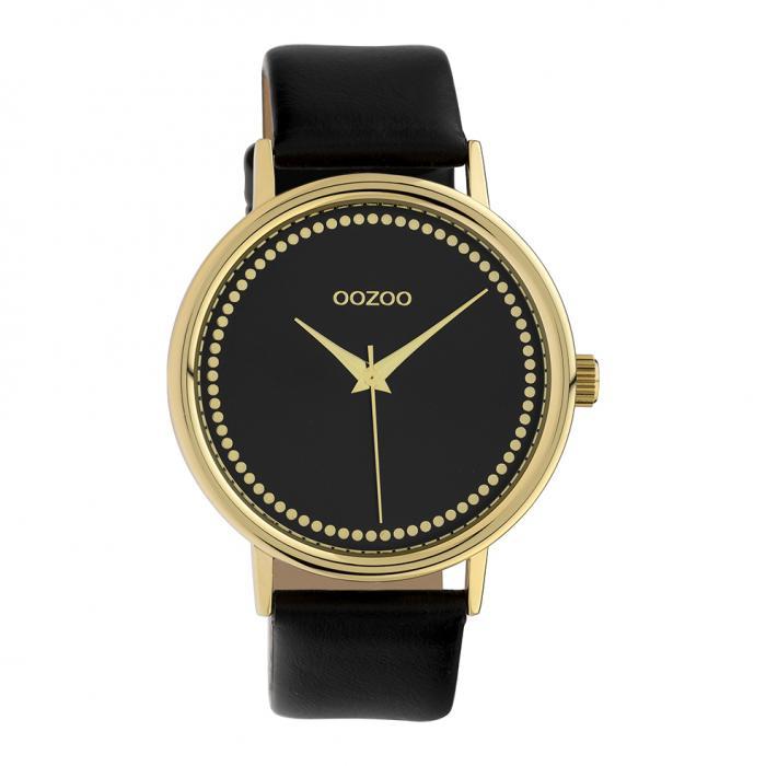 SKU-39939 / OOZOO Timepieces Black Leather Strap