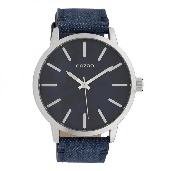 SKU-39446 / OOZOO Timepieces Blue Leather Strap