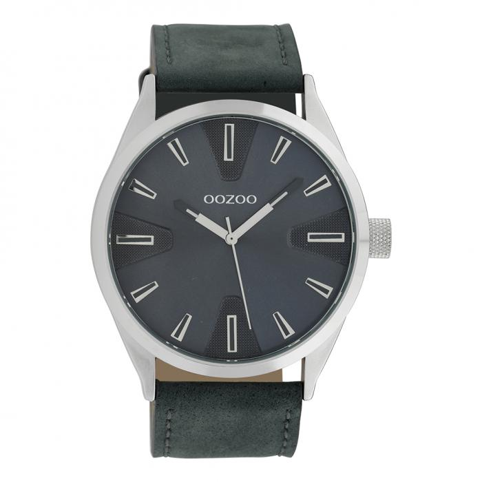 SKU-39484 / OOZOO Timepieces Blue Leather Strap
