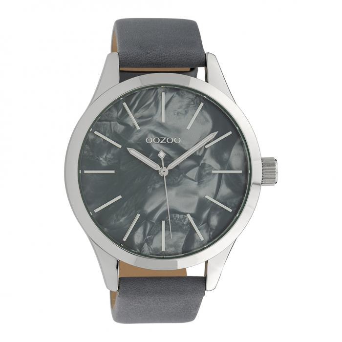 SKU-39844 / OOZOO Timepieces Blue Leather Strap
