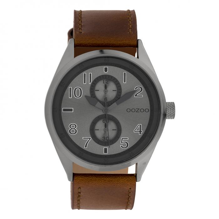 SKU-39550 / OOZOO Timepieces Brown Leather Strap