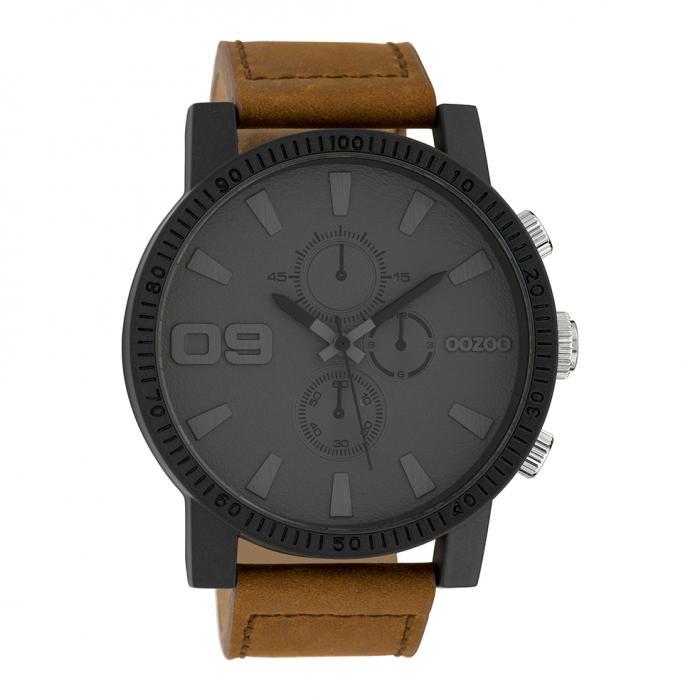 SKU-39627 / OOZOO Timepieces Brown Leather Strap