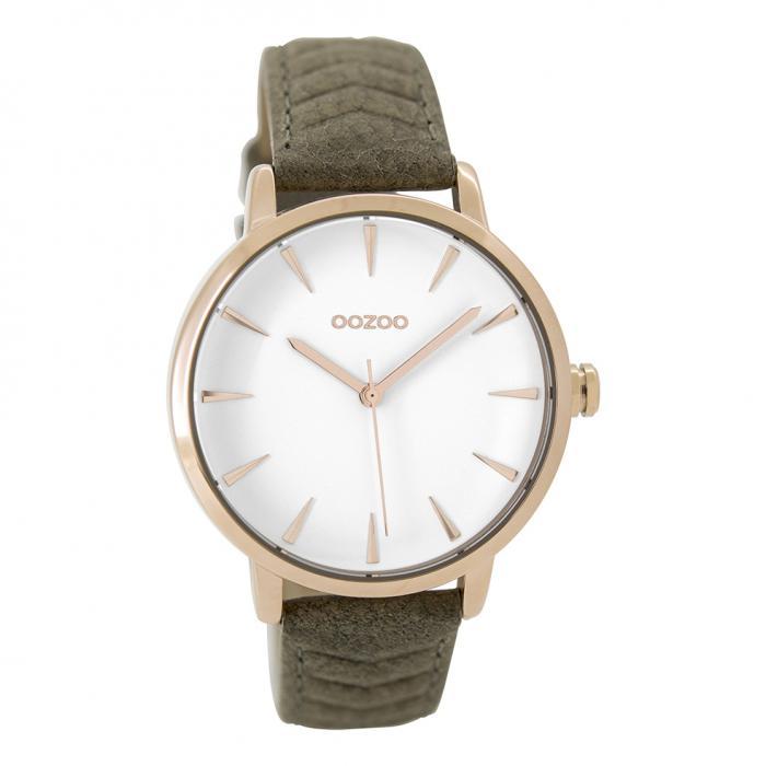 SKU-39902 / OOZOO Timepieces Brown Leather Strap