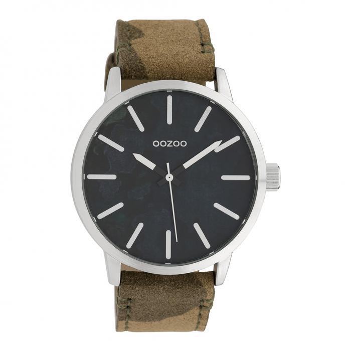 SKU-39445 / OOZOO Timepieces Camo Leather Strap