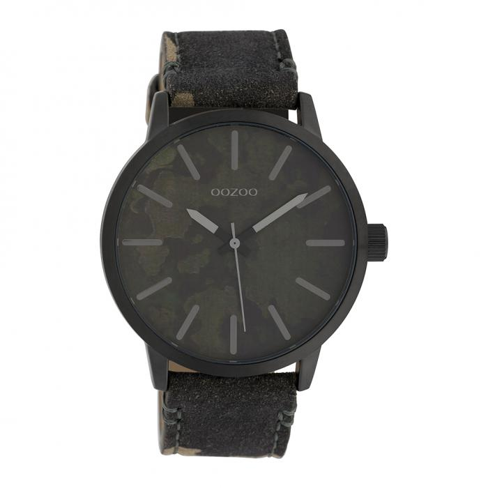 SKU-39449 / OOZOO Timepieces Camo Leather Strap