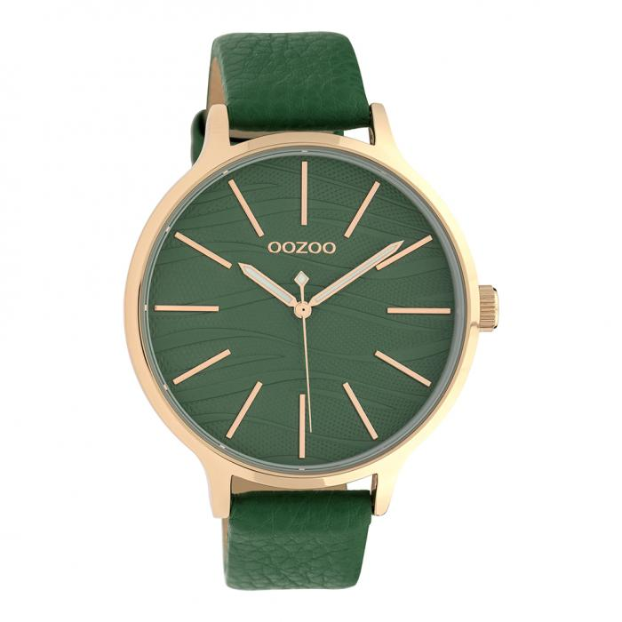 SKU-39886 / OOZOO Timepieces Green Leather Strap