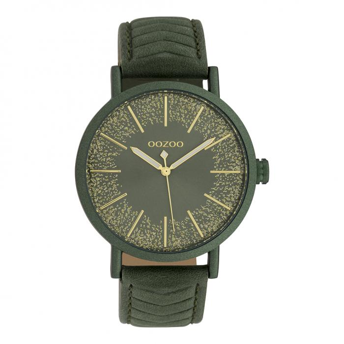 SKU-39929 / OOZOO Timepieces Green Leather Strap