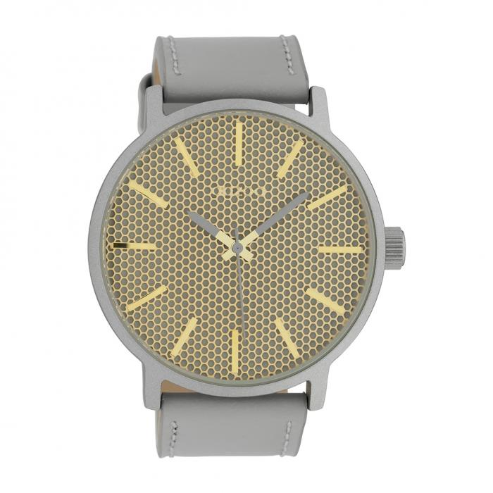SKU-39557 / OOZOO Timepieces Grey Leather Strap