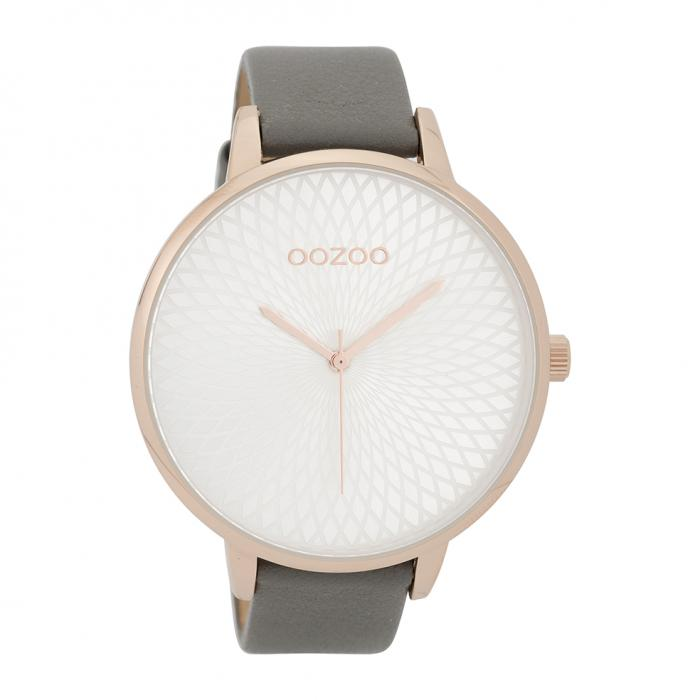SKU-39918 / OOZOO Timepieces Grey Leather Strap