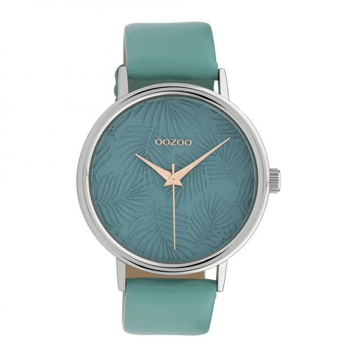 SKU-39848 / OOZOO Timepieces Light Blue Leather Strap