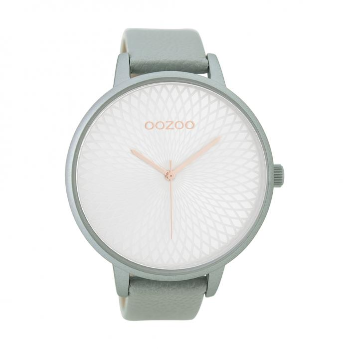 SKU-39919 / OOZOO Timepieces Light Blue Leather Strap