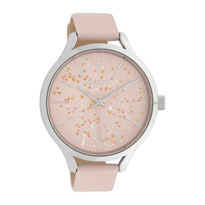 SKU-39855 / OOZOO Timepieces Pink Leather Strap