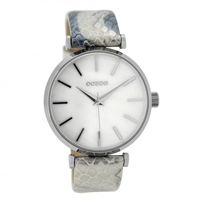 SKU-39914 / OOZOO Timepieces Two Tone Leather Strap