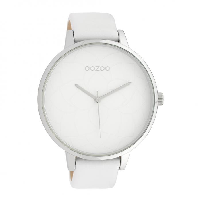 SKU-39863 / OOZOO Timepieces White Leather Strap