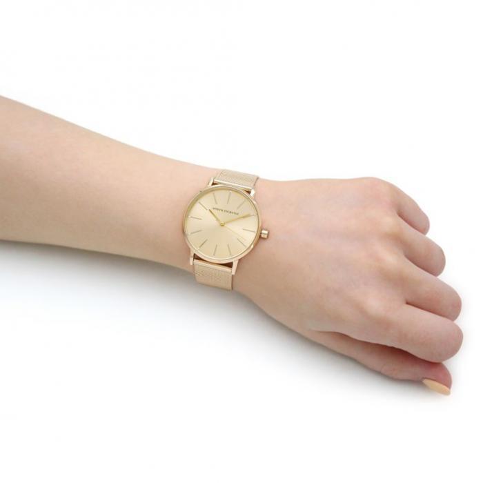 ARMANI EXCHANGE Lola Crystals Gold Stainless Steel Bracelet