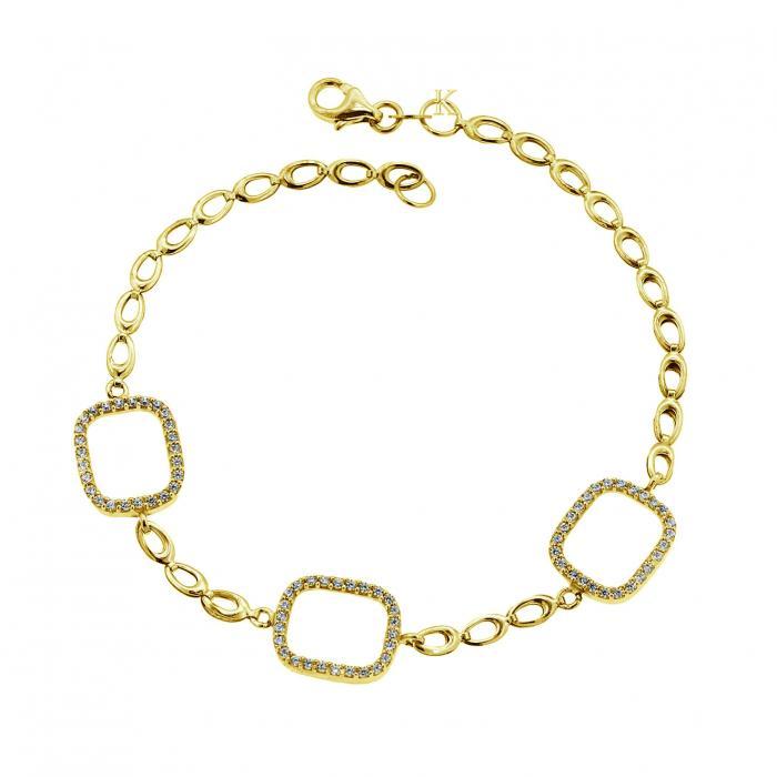 SKU-40333 / Βραχιόλι Χρυσός Κ14 με Ζιργκόν