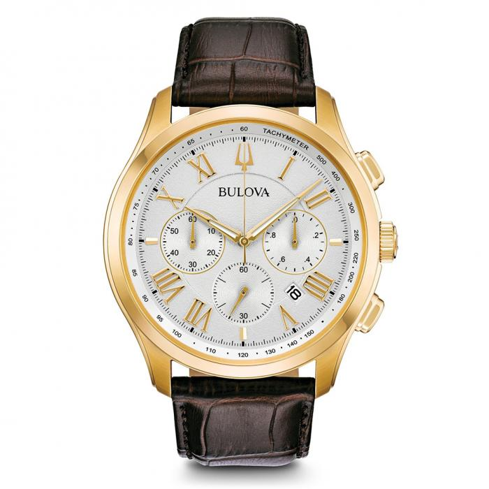 SKU-40492 / BULOVA Classic Collection Chronograph Brown Leather Strap