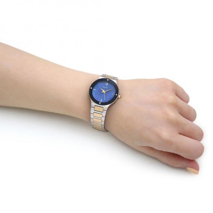 SKU-40523 / BULOVA Diamond Two Tone Stainless Steel Bracelet