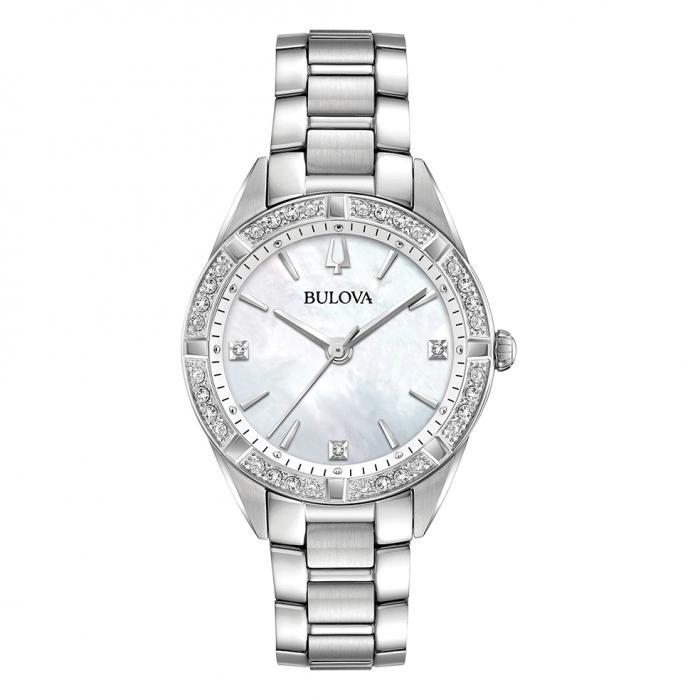 SKU-40510 / BULOVA Diamonds Stainless Steel Bracelet