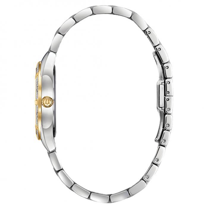 SKU-40509 / BULOVA Diamonds Two Tone Stainless Steel Bracelet