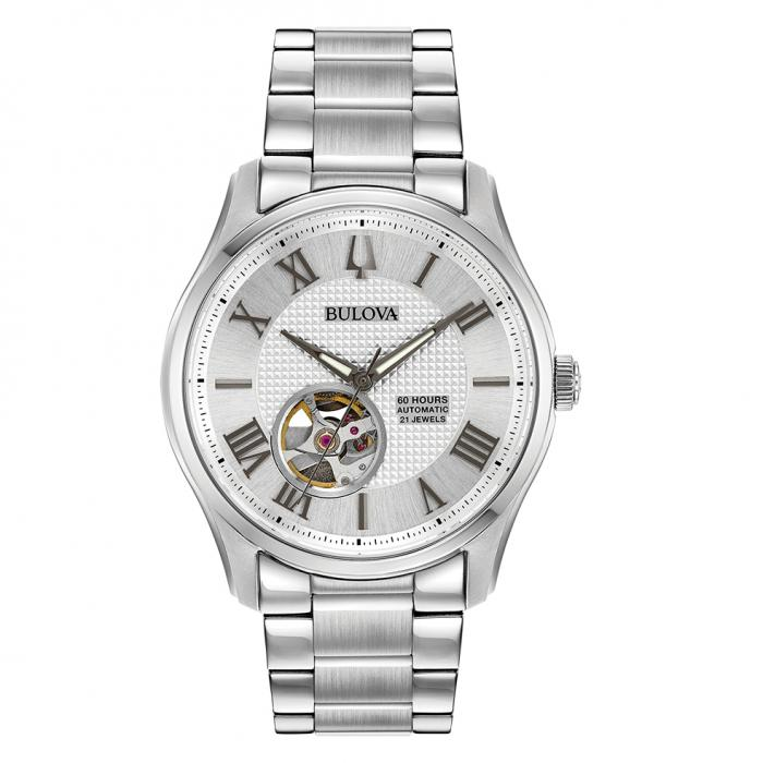 SKU-40462 / BULOVA Mechanical Collection Wilton Automatic Silver Stainless Steel Bracelet
