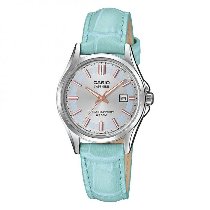 SKU-40809 / CASIO Turquoise Leather Strap