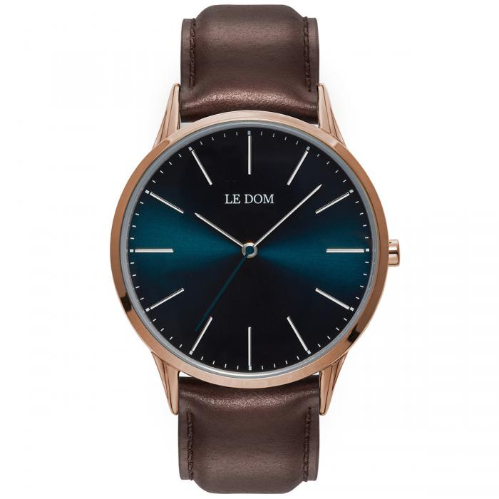 SKU-40170 / LE DOM Classic Collection Brown Leather Strap